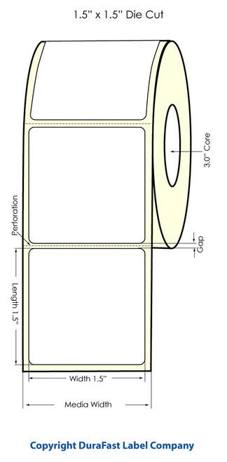 """Primera LX900 1.5"""" x 1.5"""" High Gloss Label Roll"""