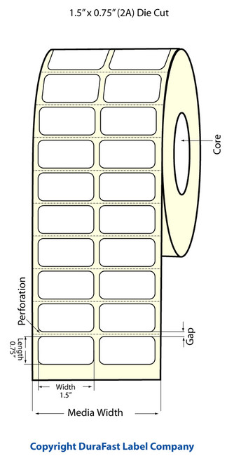 Primera LX900 1.5x.75 Matte BOPP Labels 933023
