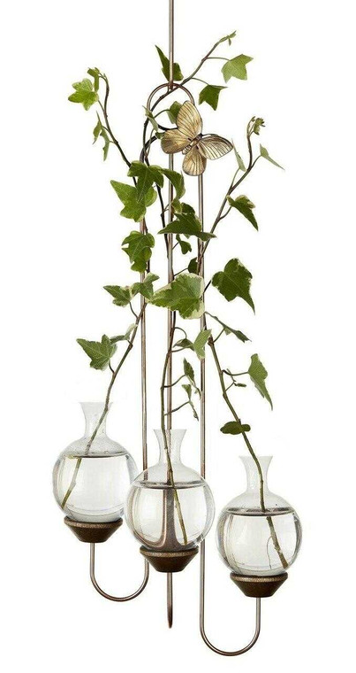 Triple Hook Hanging Plant Rooter Vase With Plants