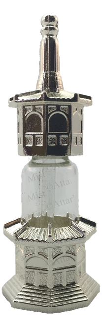 Minar shape Silver bottle with stick applicator