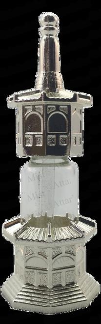 Minar shape Silver bottle with stick applicator