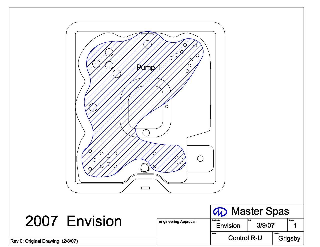 Master Spa - 2007 Envision Spa Diagram