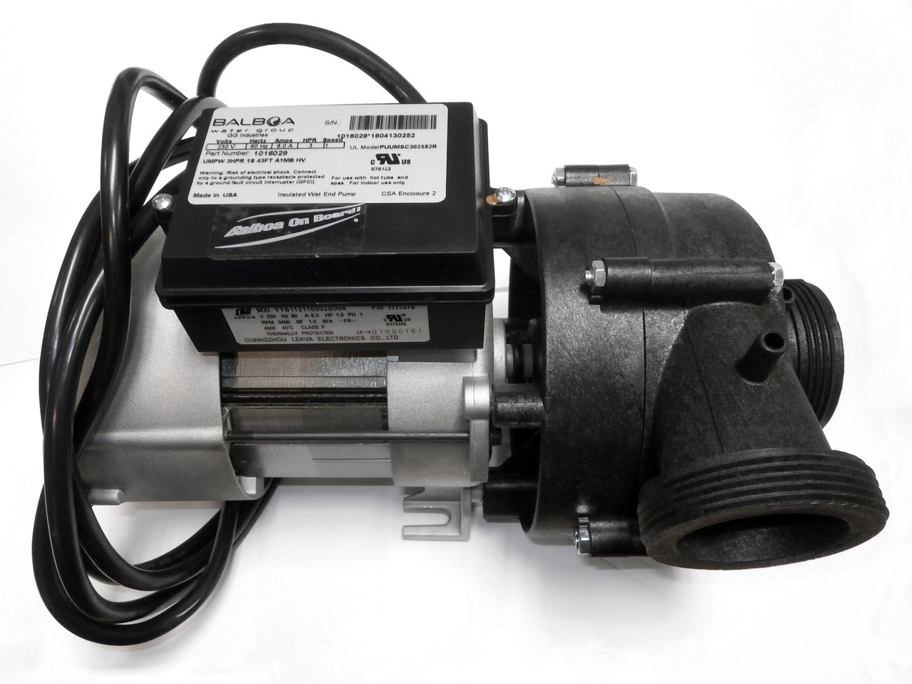 X320400 - Spa Pump - 3hp 1spd Pentair Ultimax 240V Power WOW 9 ... on