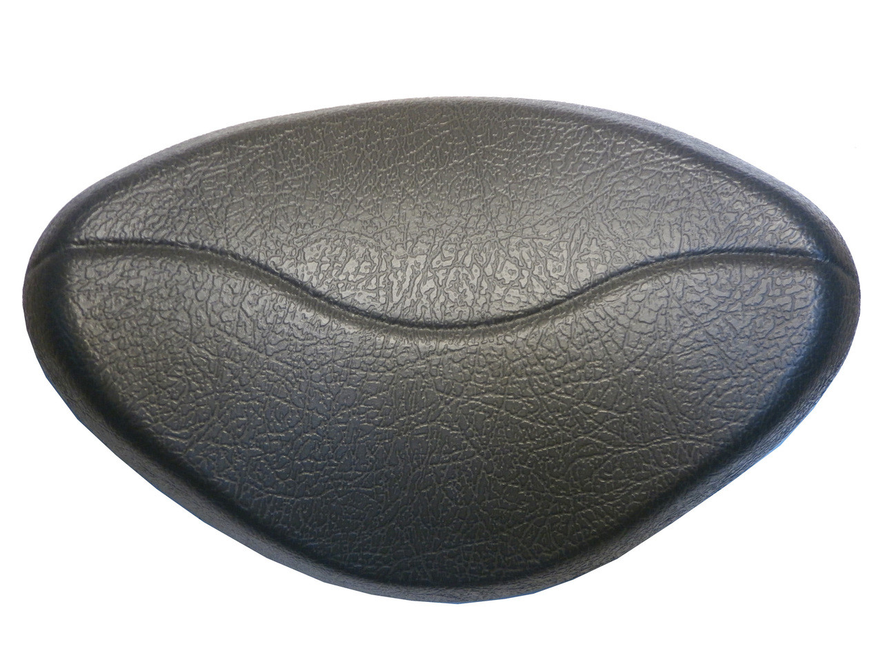 Master Spa - X540762 - Oval Warped Charcoal Pillow- Front View