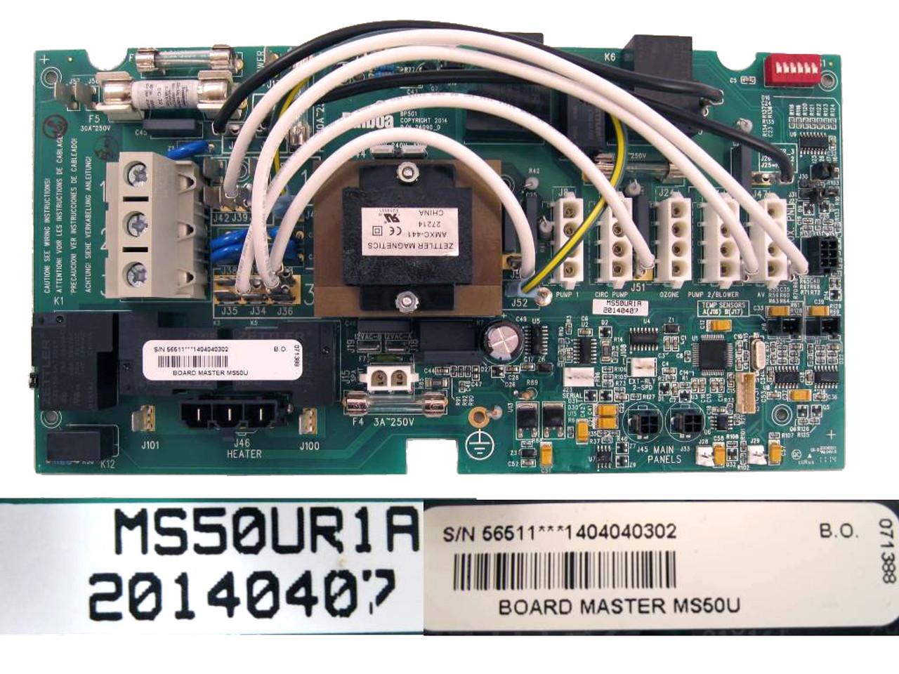 Master Spa - X801148 - Balboa Equipment MS50U/E Circuit Board on balboa relay schematic, jacuzzi aero spa electrical schematic, 12 6 volt schematic, balboa spa schematic, balboa spa board, balboa board repair, balboa instruments circuit boards, balboa m2 schematic board,