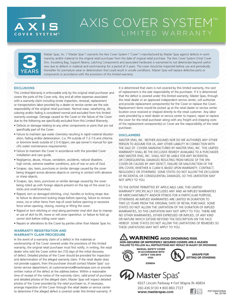 AXCVR15 - Warranty Info