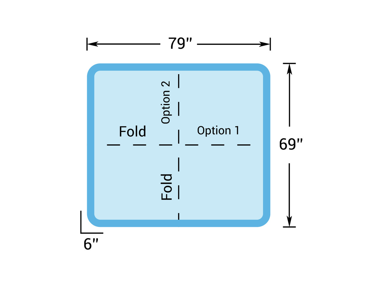 """6' 7"""" x 5' 9"""" Hot Tub Cover for Getaway Hot Tubs (79"""" x 69"""")"""
