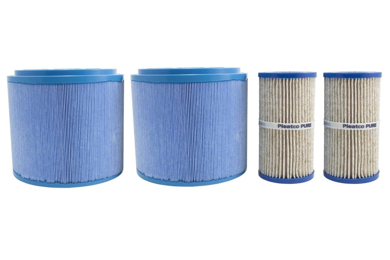 NLA - Legend Series®-Down East Spas-Legacy Whirlpool®-Microban®-Eco Pur Mineral 4 Filter Set-X268325-PMA45-2004R-M-X268056-PMA-EP1----NLA