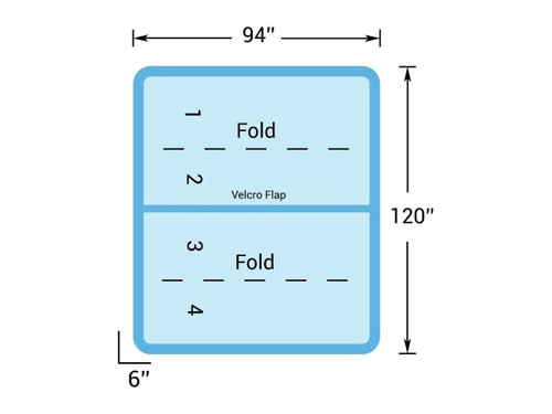 """10' x 8' Hot Tub Cover for Master Spas (120"""" x 94"""")"""