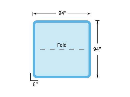 """8' x 8' - Hot Tub Cover for Master Spas - 94"""" x 94"""""""