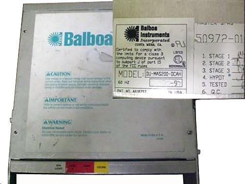 Master Spa - X300600 - Balboa Equipment MAS200 System Control Pack