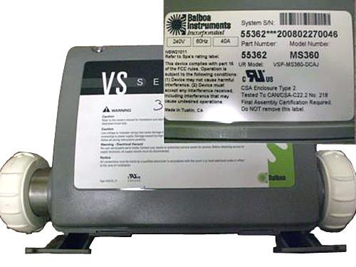 Master Spa - X300703 - Balboa Equipment MAS360 System Control Pack