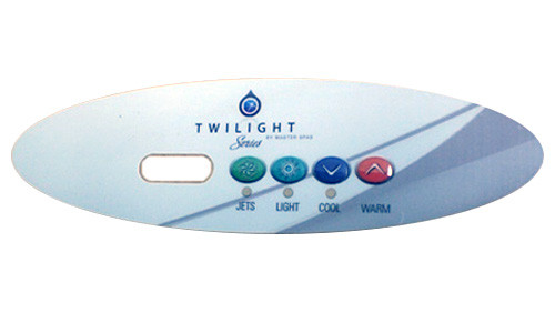 Master Spa - X509056 - 4-Button Overlay for Twilight Series Corner Spa 2010 - Front View