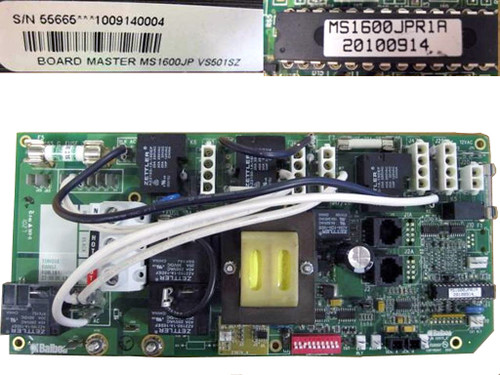 Master Spa - X801140 - Balboa Equipment MS1600JPL PC Circuit Board - Front View