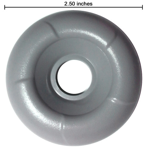 Master Spa - X804191 - Grey Diverter Cap 2003-2004 (for 1 inch Inside Diameter Plumbing) - Top View with ruler