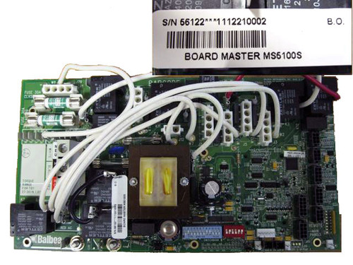 Master Spa - X801128 - Balboa Equipment MS5100S PC Circuit Board - Front View