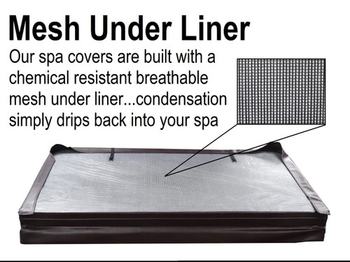 "6.5' x 6.5' Hot Tub Cover for Master Spas (78"" x 78'"") Triangle Spa"