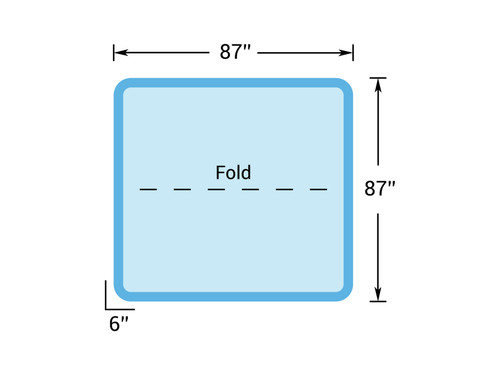"7' 3"" x 7' 3"" Hot Tub Cover for Getaway Hot Tubs (87"" x 87"")"