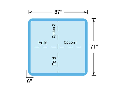 "7' 3"" x 5' 11"" Hot Tub Cover for Getaway Hot Tubs (87"" x 71"")"