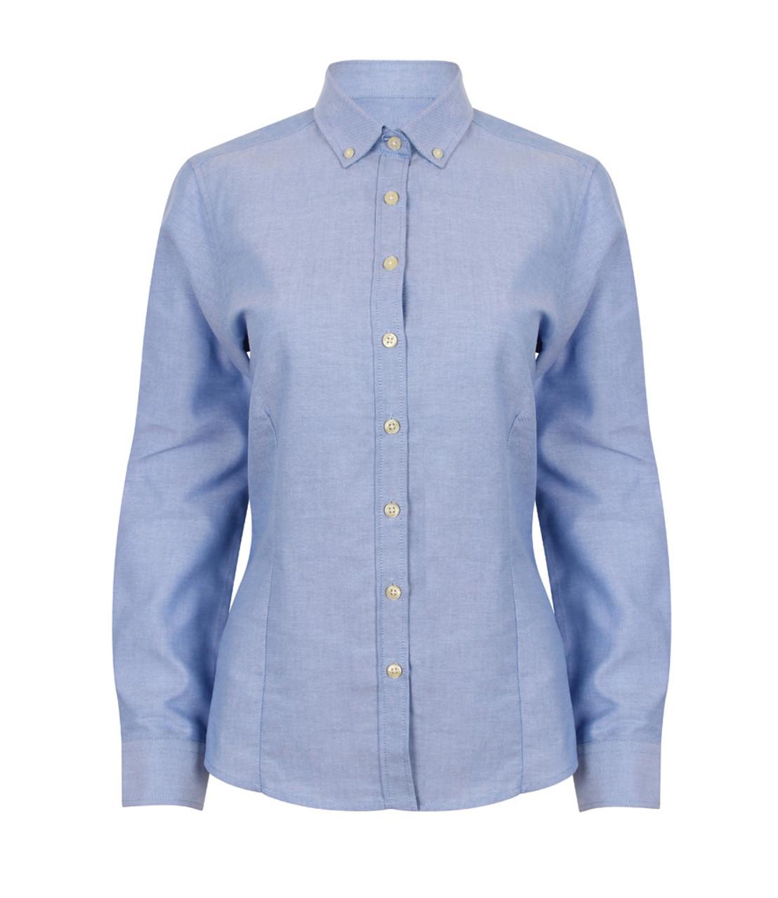 8920e146c3c Henbury Ladies Modern Long Sleeve Regular Fit Oxford Shirt
