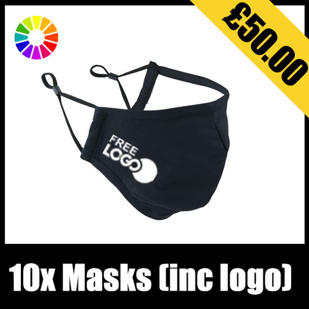 Premier Facemask x10 (with one colour logo)
