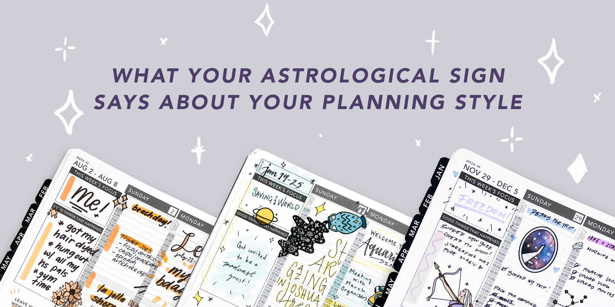 12 Passion Planner Layouts Based on Your Zodiac Sign