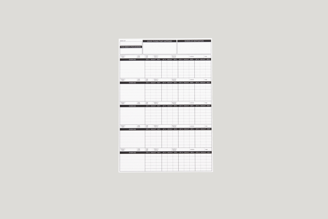 image relating to Simply Fit Board Printable Workouts named Exercise session Tracker