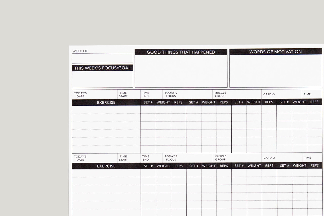 image regarding Free Printable Workout Log identified as Work out Tracker