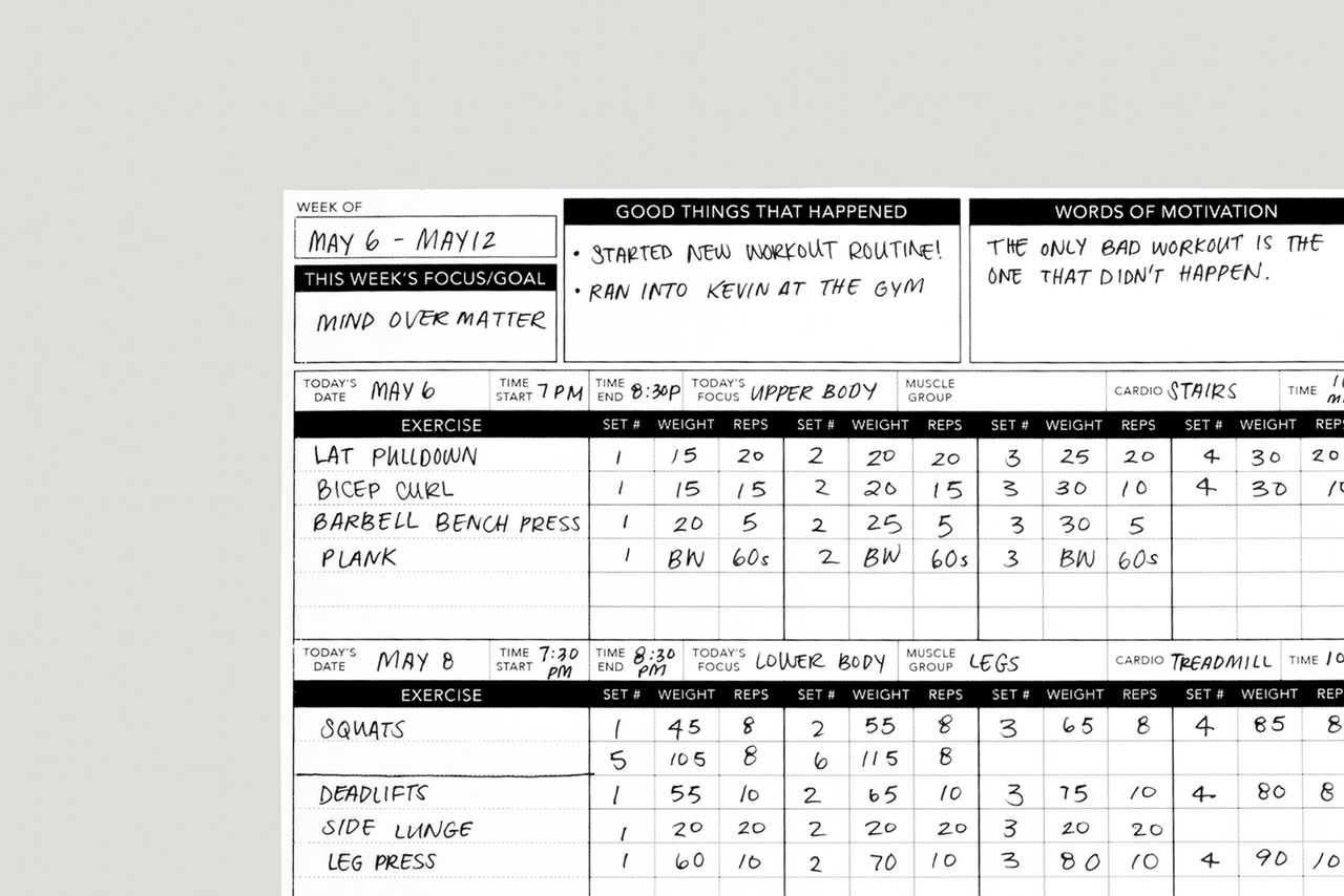picture relating to Printable Workout Schedule referred to as Exercise routine Tracker
