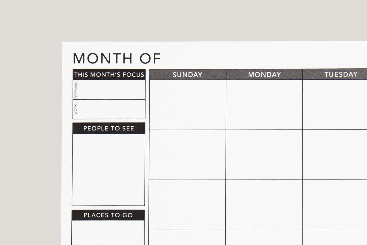 free printable undated monthly planner passion planner