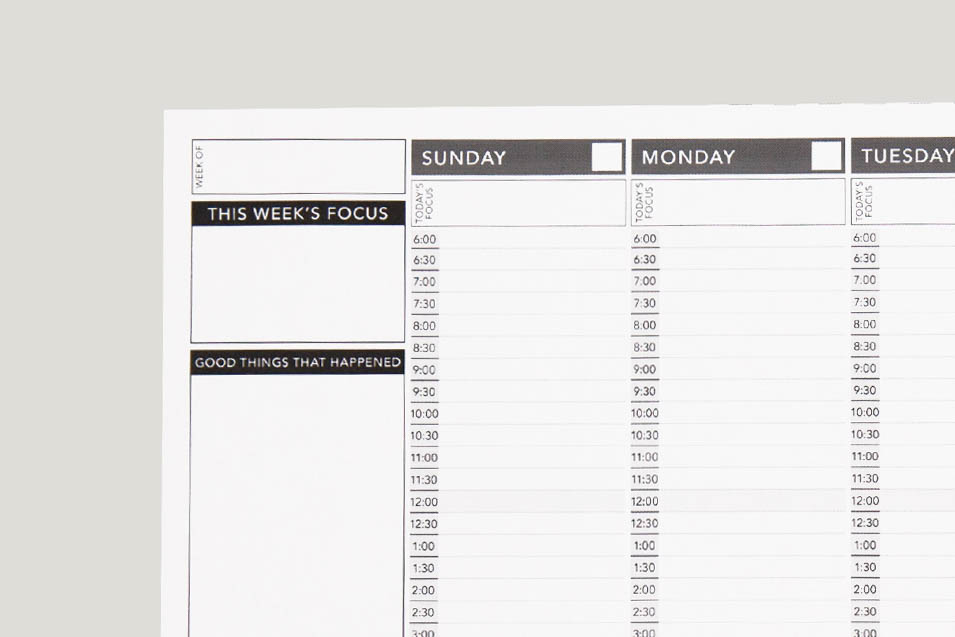 image about Free Weekly Planner Printable named Undated Weekly