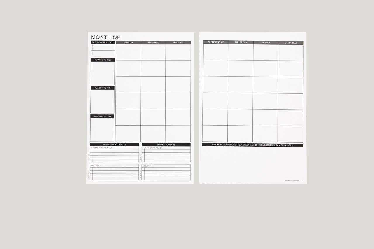 photograph relating to Free Printable 5.5x8.5 Planner Pages named Undateds