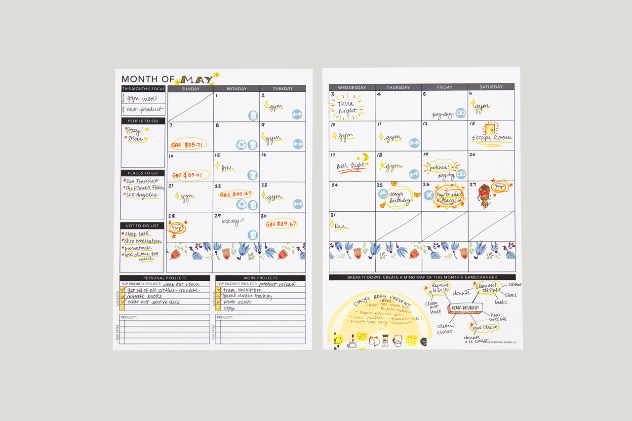 photo about Free Printable 5.5 X8 5 Planner Pages identified as Undateds