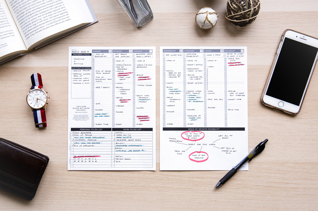 photo regarding Free Printable 5.5x8.5 Planner Pages known as Undateds