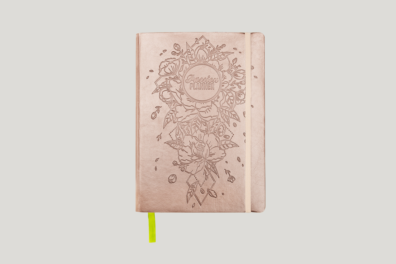 Dated 2019 Yearly Planner Radiant Rose Gold Passion Planner