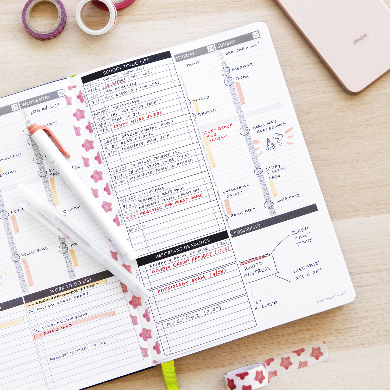 free printable school to do list passion planner