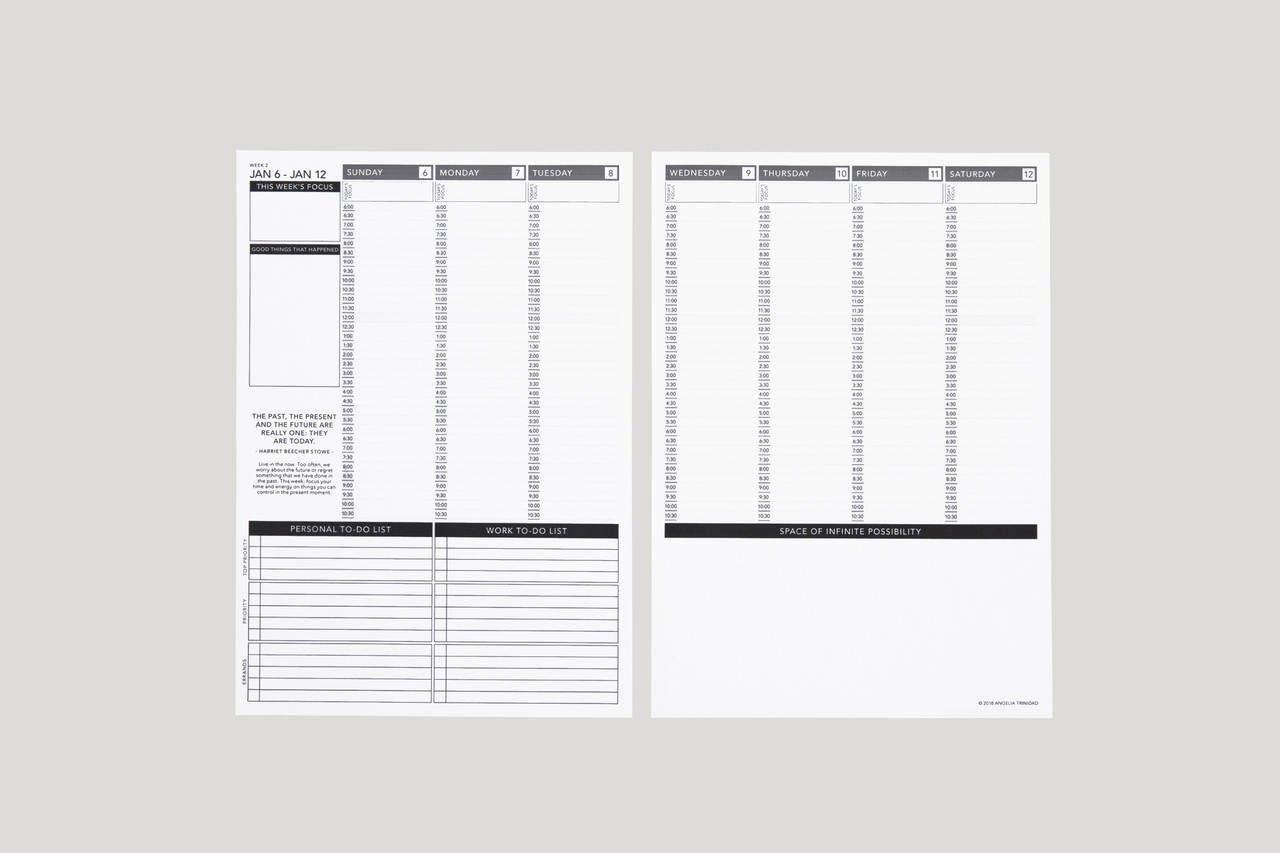 picture relating to Printable Planner identify Dated 19