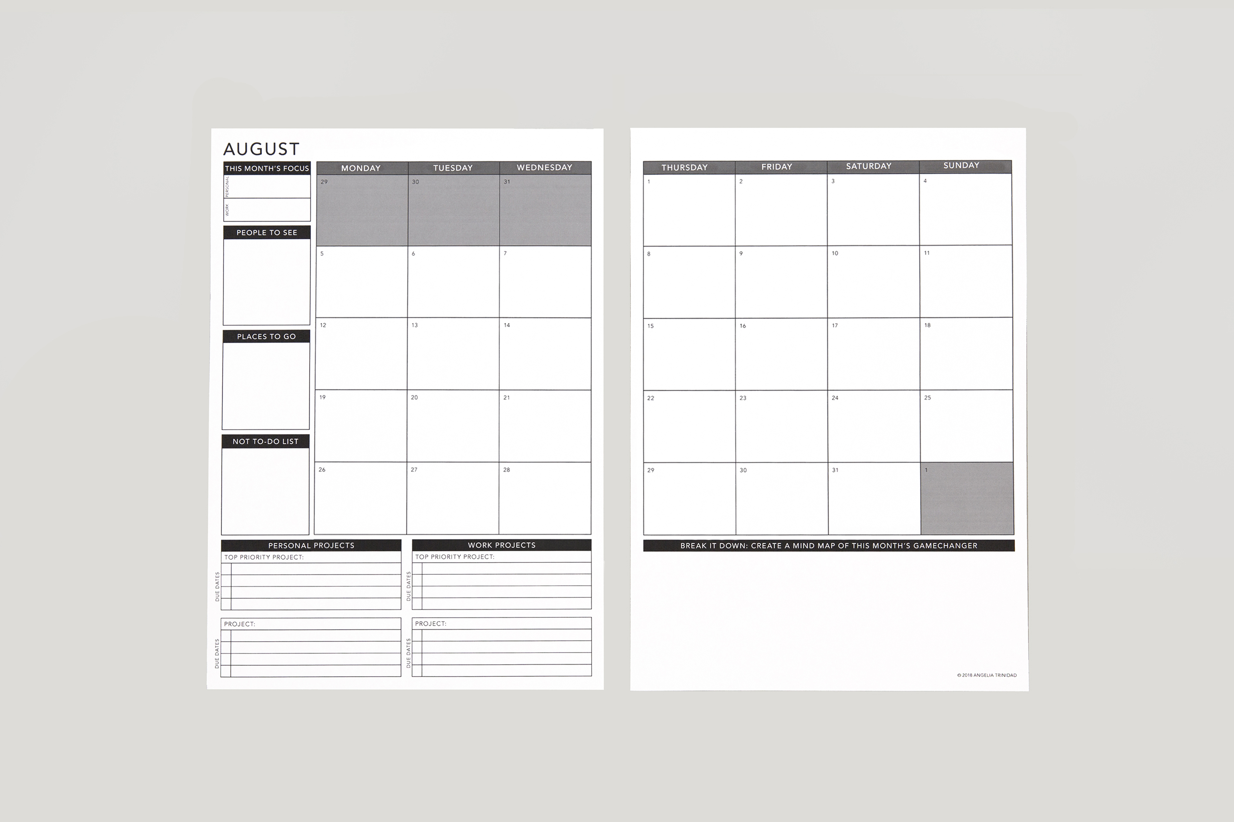 This is a graphic of Passion Planner Printable inside teacher