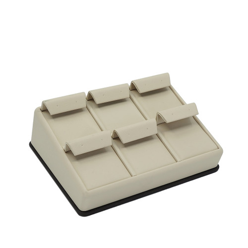 Leatherette Tray for 6 Pairs of Earrings