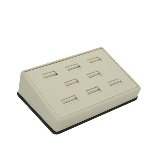 Leatherette Tray for 8 Rings w/ Removable Pad