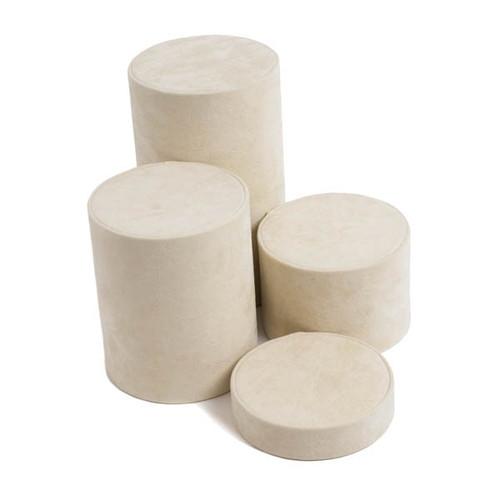 Suede Cylinder Riser Set - 4 Piece