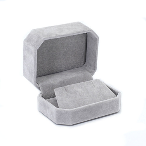 Octagonal Suede Earring/Pendant Box