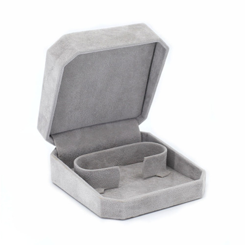 Octagonal Suede Bangle Box