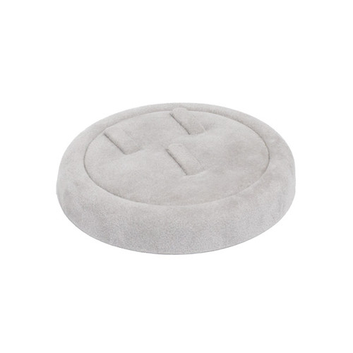 Round Suede Tray for 3 Rings