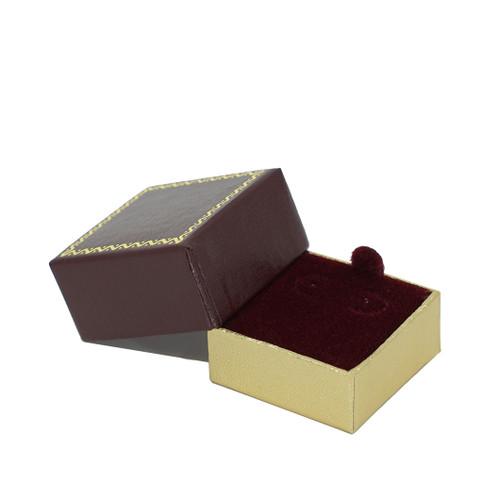 Leatherette Packer Small Stud Earring Box