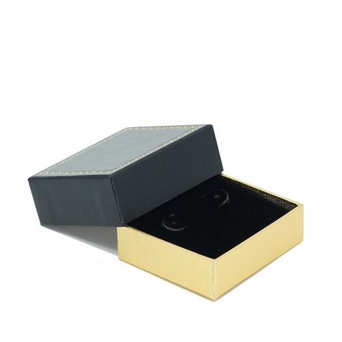 Leatherette Packer Large Stud Earring Box