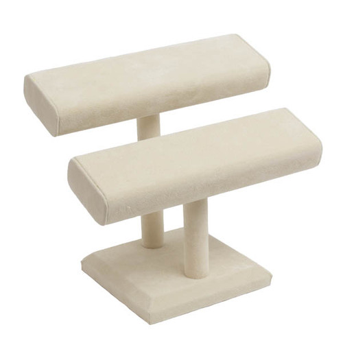 Suede Squared Double T-Bar Bracelet/Bangle Stand