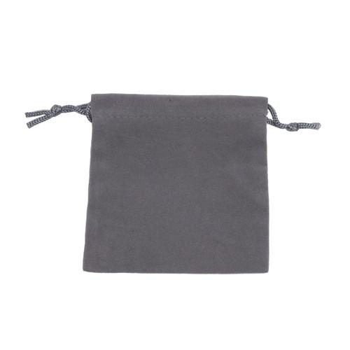 Velour Drawstring Pouch - Medium