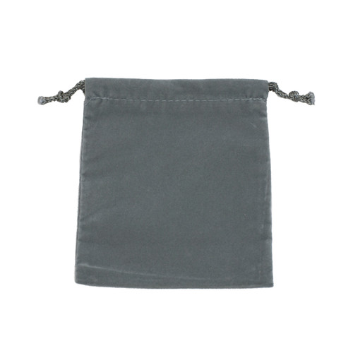 Velour Drawstring Pouch - Large