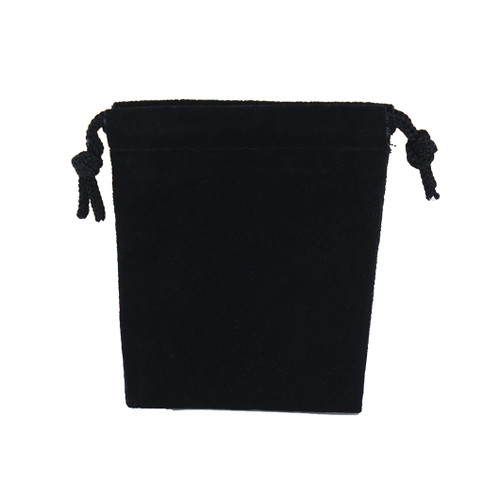 Suede Drawstring Pouch - Small